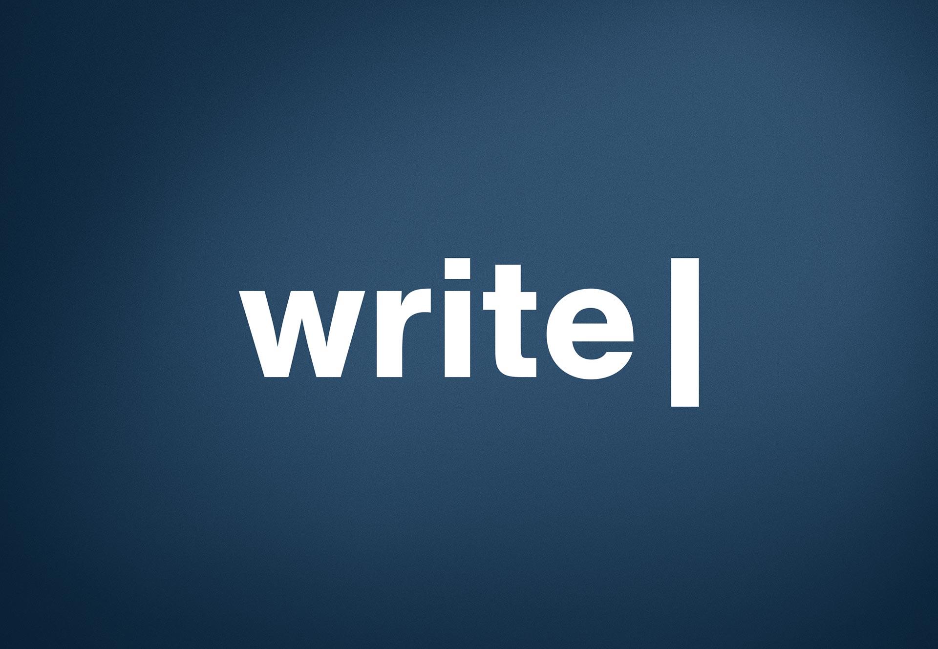 Logo Design for Write
